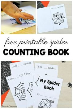 FREE printable for a Halloween preschool activity! Your little learners will love using their fingerprints to make little spiders in this cute math activity. #FunADay #preschool #preschoolmath #freeprintables #preschoolprintables