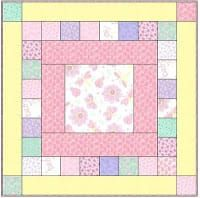 Quick quilt pattern Maybe change it up with rectangle center Baby Quilts Easy, Baby Girl Quilts, Girls Quilts, Kid Quilts, Baby Quilt For Girls, Quilt Baby, Baby Boy, Quilting Tutorials, Quilting Projects
