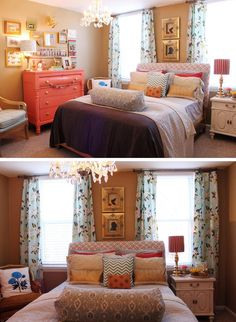 I'm in LOVE with this bedroom but it may be too girly for the Hubs.