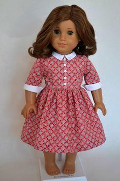 American Girl 18 Inch Doll Dress 1950's by JennyWrensDressShop, $50.00