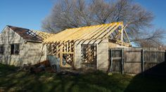 Roof Rafters Replaced, with Vaulted Ceilings