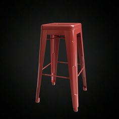 Tolix Bar Stool - 3D furniture model - Use PROMO CODE: pin3d and get 20% off  - $10.00