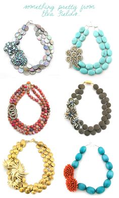 chunky, bold necklaces