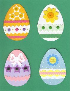 Lg. Easter Egg Embellishments - Set 3