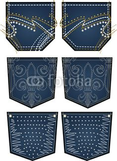 35 Trendy ideas for embroidery jeans pocket patterns Jean Bordado, Bling Jeans, Patterns Of Fashion, Sewing Pants, Back Bag, Pocket Pattern, Embroidery Fashion, Pocket Detail, Vintage Sewing