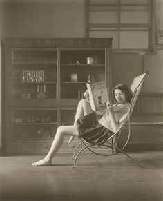 Hisaji Hara, A Study of 'Katia Reading,' 2009. (©Hisaji Hara/Courtesy of the Michael Hoppen Gallery).Hara recreates the paintings of Polish-French artist Balthus.