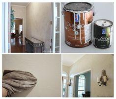 Faux plaster paint technique.  How to do it.  The Creativity Exchange