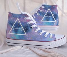 Galaxy Converse shoes Custom Converse Galaxy by Kingmaxpaints, $46.00