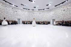 bureau betak blankets musee rodin in orchid wall for dior show AW14