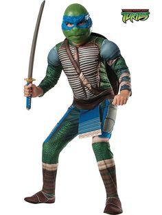Teenage Mutant Ninja Turtle's Deluxe Leonardo Kids Costume! See more costume ideas for Halloween, dress up and more at WholesaleHalloweenCostumes.com!