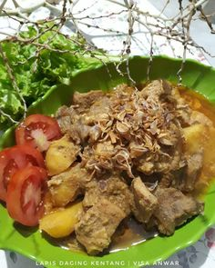 Resep lapis daging Instagram Indonesian Food, Pot Roast, Allrecipes, Protein, Food And Drink, Beef, Baking, Ethnic Recipes, Foods