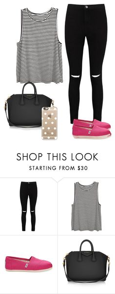 """Untitled #199"" by hellenfmartins ❤ liked on Polyvore featuring Boohoo, H&M, TOMS, Givenchy and Casetify"