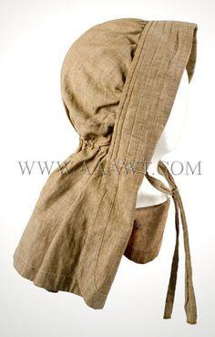 Antique Bonnet, Brown Cotton, side view