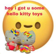Fb Memes, Funny Memes, I Got U, Hello Kitty Toys, Stupid Memes, Reaction Pictures, Sanrio, Emoji, Squad
