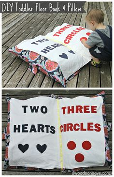 Giant  DIY Toddler Book Toy and Floor Pillow - Swoodsonsays.com