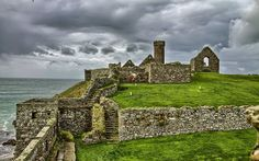 Rare view - Peel castle