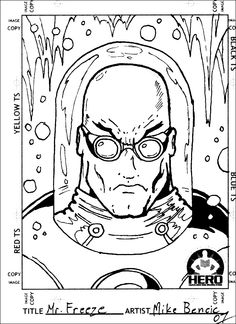 As a part of my exclusive Mikey Bencic collector Card Action GO Series, Mr. Freeze represented 1 of 100 cards! Enjoy fellow Batman fans!