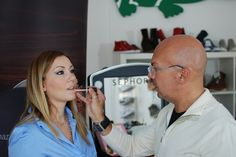 Cantoni for Bare Minerals with Umberto Spinelli, make-up artist and Trainer Italia for Bare Minerals with the beauty blogger Simplynabiki, at Sephora. Cantoni make up case Voyager. #bareminerals #simplynabiki #umbertospinelli #sephora #cantonimakeupartist #makeupcases
