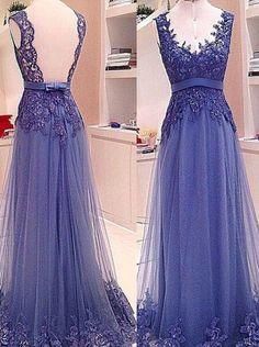 A line V-neck Prom Dresses,Long Chiffon Prom Dresses,Evening Dresses