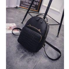 gt Sale on2016 Hot Sell Women s Cat Backpacks Girls  Fashion Bag Travel  PU. Cat BackpackGirl ... 1ee00f247862c