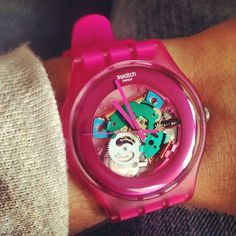 PINK LACQUERED #Swatch http://swat.ch/1fc0sj7