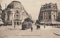 """Autre vue du début de la rue Caulaincourt et l'ancien Hippodrome """"Bostock"""", vers 1910"""
