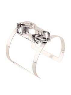$7.99 Broad silver bracelet.