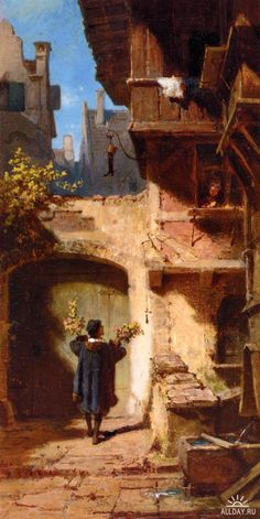 Carl Spitzweg. Sweet old Germany