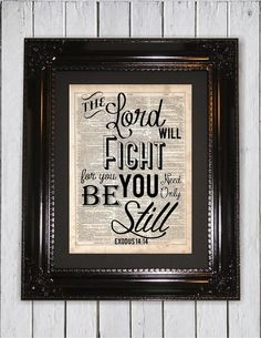 The Lord Will Fight Bible Quote Dictionary by MySilhouetteShoppe