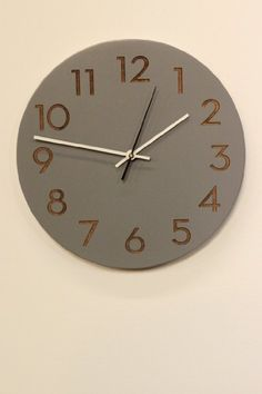 Amazon.com - Modern Wall Clock by Uncommon Handmade (Natural Birch) - Wood Wall Clocks