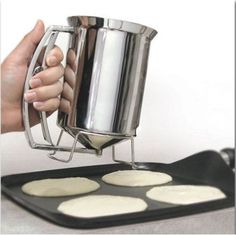 New PancakeBatter Dispenser Stainless Steel Perfect Pancakes  Cupcakes  Waffles  Crepes   More ** You can find out more details at the link of the image.(This is an Amazon affiliate link)