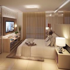 This is a Bedroom Interior Design Ideas. House is a private bedroom and is usually hidden from our guests. Much of our bedroom … Home Bedroom, Bedroom Decor, Bedroom Ideas, Bedroom Colors, Bedroom Designs, Master Room, Master Suite, Suites, Small Apartments