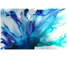 Blue resin artwork by artist Jessica Skye Baker part of the Baker Collection