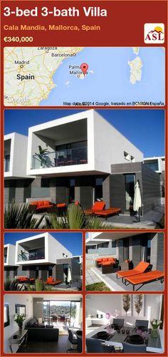 3-bed 3-bath Villa in Cala Mandia, Mallorca, Spain ►€340,000 #PropertyForSaleInSpain