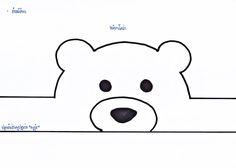 Early Childhood Education: animal visors to print - Espaço Educar - mara Printable Animal Masks, Teddy Bear Day, Polar Bear, Bear Mask, Puppets For Kids, Paper Crowns, Bear Theme, Arctic Animals, Early Childhood Education