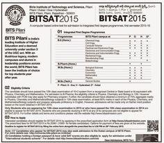 Bonala Kondal: BITSAT 2015