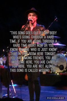 Alex's speech before Missing You at Kingston acoustic show 30/05/2017