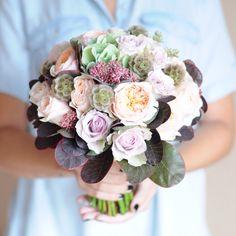 Букет невесты с розами Дэвида Остина / Bridal bouquet with David Ostin roses