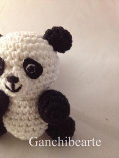 Crochet Panda, Crochet Animals, Crochet Dolls, Knit Crochet, Crochet Hats, Panda Stuffed Animal, Stuffed Animal Patterns, Amigurumi Doll, Amigurumi Patterns
