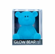 Glow Bear Night Light - Blue - $29.95 - Help soothe your little one to sleep with the soft glow of this gorgeous Glow Bear night light in blue!  Features easy push on and push off function. #littlebooteek #boys #bedroom #nursery #decor #lighting