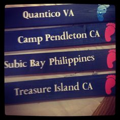 Extra military duty station signs  by BelAmour28 on Etsy, $5.00