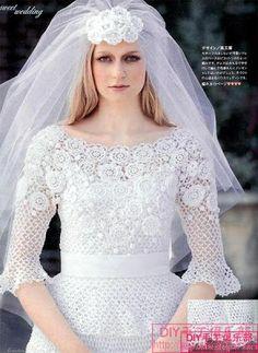 Sonho de croche: Vestido de Noiva de Croche