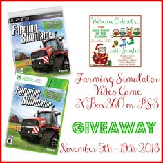 Farming Simulator Video Game for XBox360 or PS3 Giveaway!http://thriftyniftymommy.com/wp-content/uploads/2013/11/Farming-Simulator.jpg