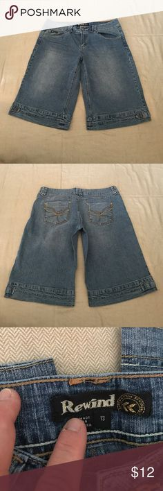 Bermuda Style Shorts Bermuda shorts size 13 juniors super cute and wish I could still fit in them!!  In great condition no rips or stains. Rewind Shorts Bermudas