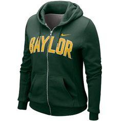 Baylor Bears Ladies Green University Classic Full Zip Hoodie Sweatshirt
