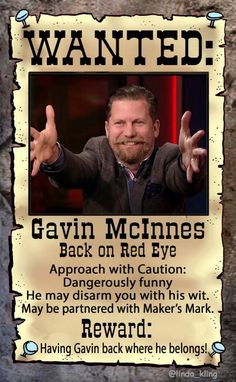 "<3 Gavin McInnes WANTED BACK ON RED EYE"" Poster made by @RedEyePix (2015)"