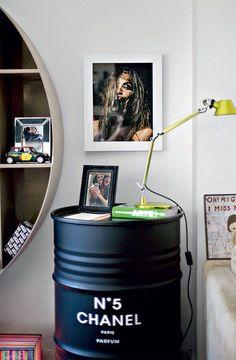 Industrial interior design | Blog | My Italian Living Ltd | metal barrel bedside table | amazing idea |