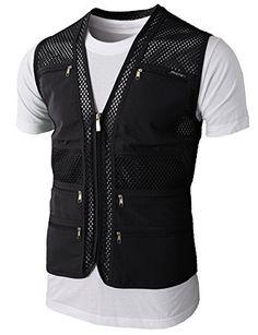 H2H Mens Casual Work Utility Hunting Travels Sports Mesh Vest With Pockets BLACK US M/Asia L (KMOV086) H2H http://www.amazon.com/dp/B00XIX3NAU/ref=cm_sw_r_pi_dp_Kwk2wb1GV753M