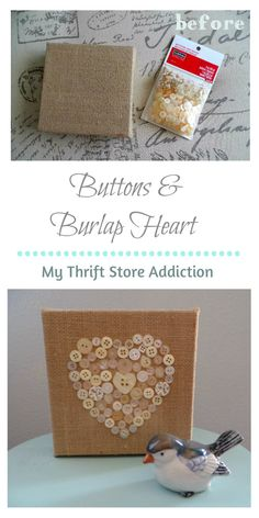 Buttons and Burlap H