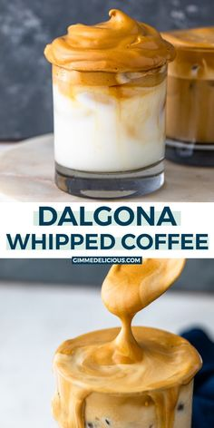 Learn how to make the BEST fluffy whipped coffee at home in just under 10 minutes! Instructions for storing and freezing large batches is included too! Sangria Recipes, Tea Recipes, Coffee Recipes, Kitchen Recipes, Smoothie Recipes, Cooking Recipes, Smoothies, Brunch Recipes, Drink Recipes